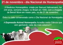 21 de novembro: Dia Nacional da Homeopatia